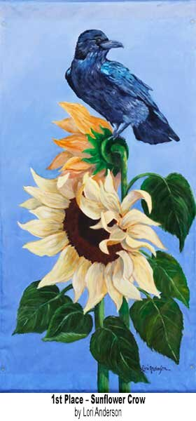 1st Place Banners on Parade 2021 - Sunflower Crow
