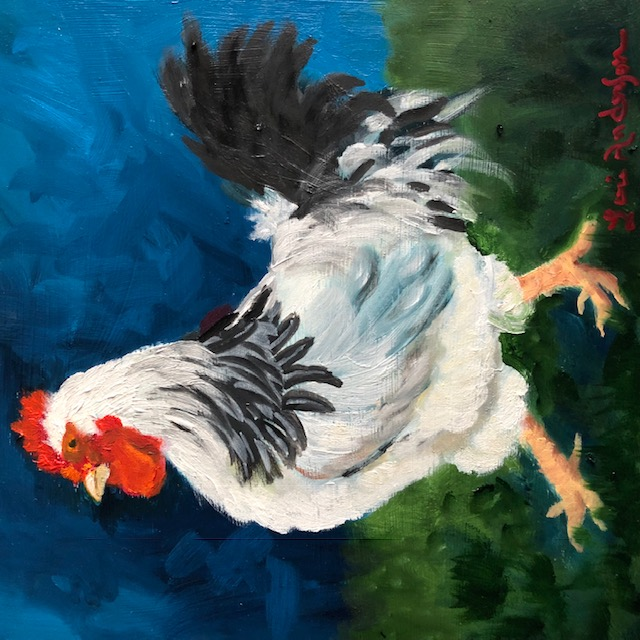 White Rooster by Lori Anderson